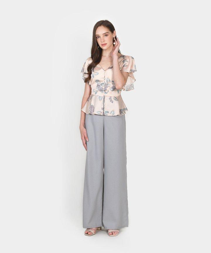 Lotte Floral Peplum Blouse