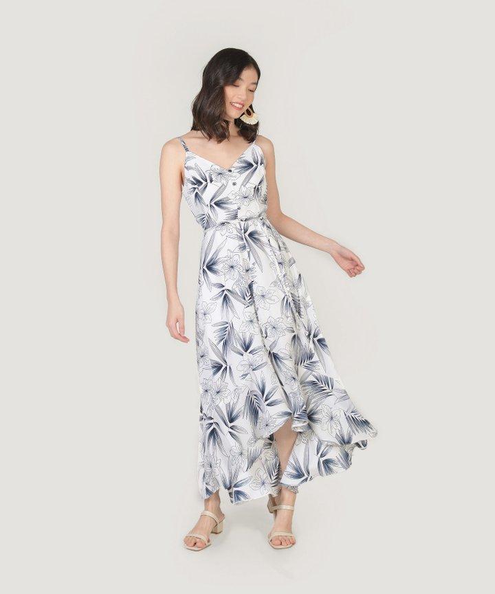 Malibu Asymmetrical Dress - Navy