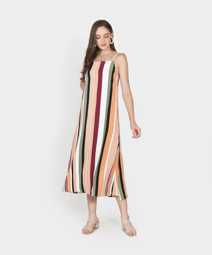 Nicolette Striped Maxi - Blush Pink