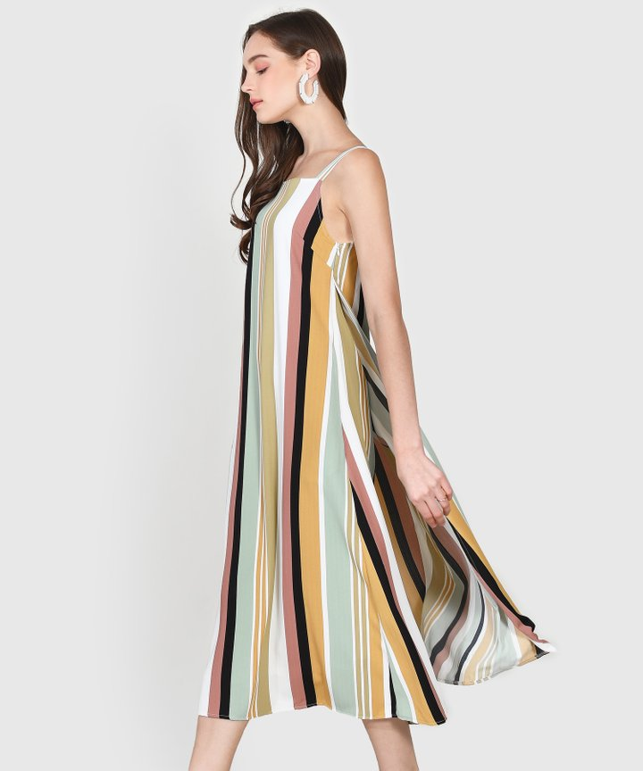 Nicolette Striped Maxi Dress - Seafoam