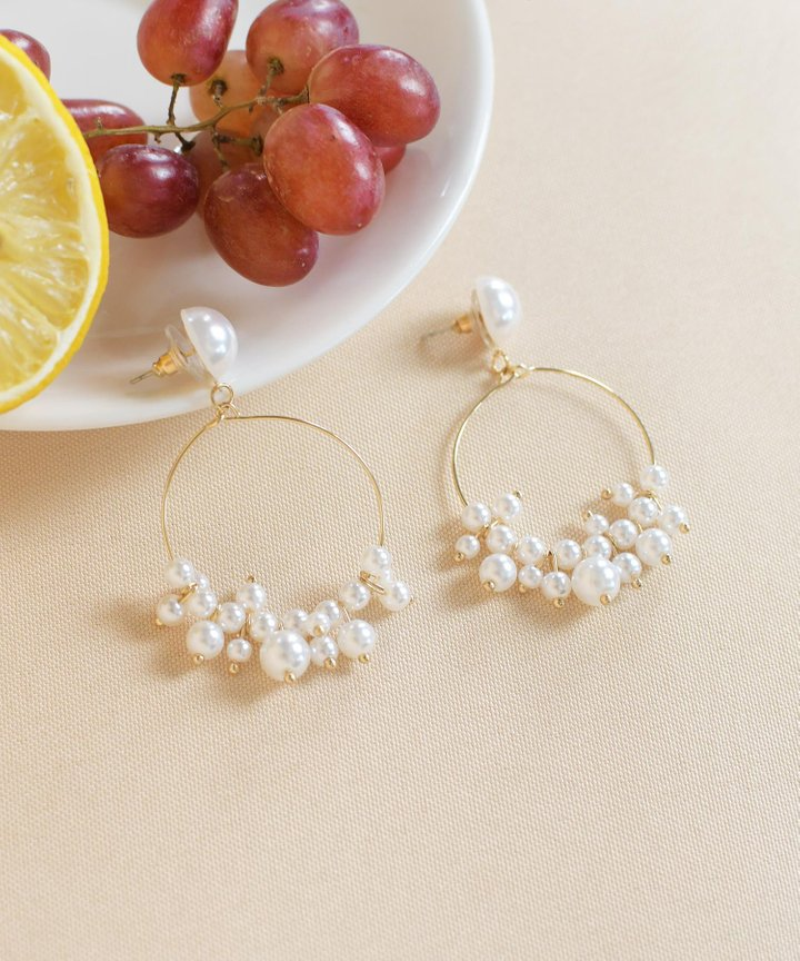 Preen Pearl Hoop Earrings
