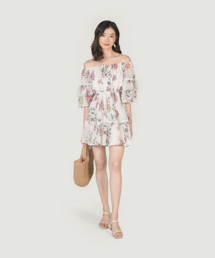 Sisilia Off-Shoulder Floral Dress (Restock)
