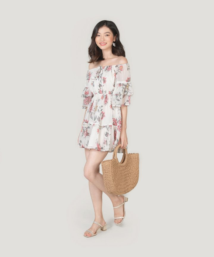 Sisilia Off-Shoulder Floral Dress (Backorder)