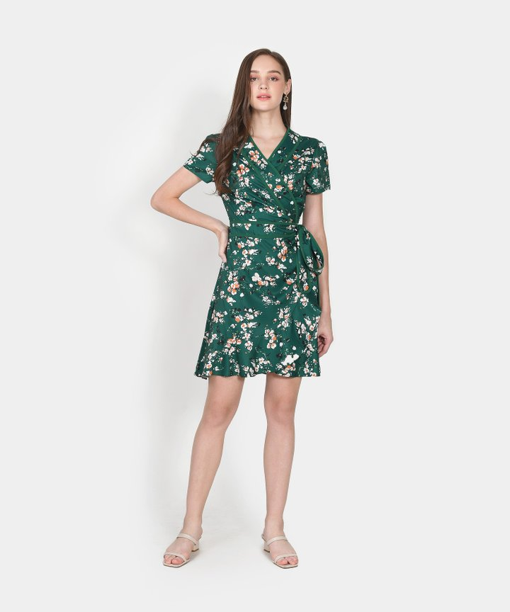 Vallena Floral Wrap Dress