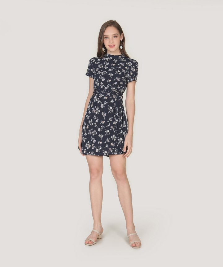 Annalie Floral Playsuit - Midnight Blue