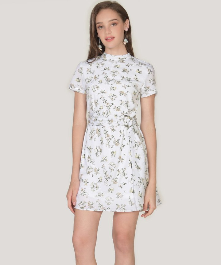 Annalie Floral Playsuit - White