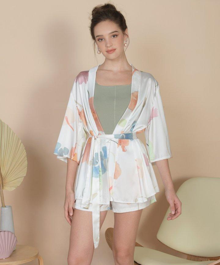 Bellflower Kimono - White (Restock)