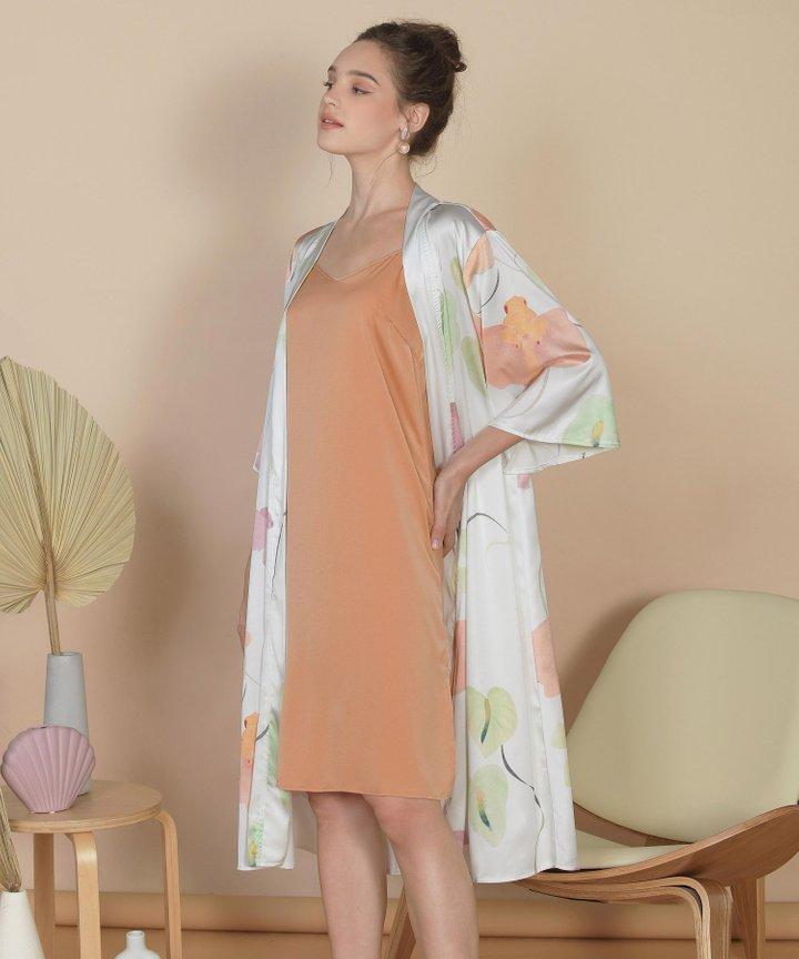Bellflower Longline Kimono - White (Backorder)