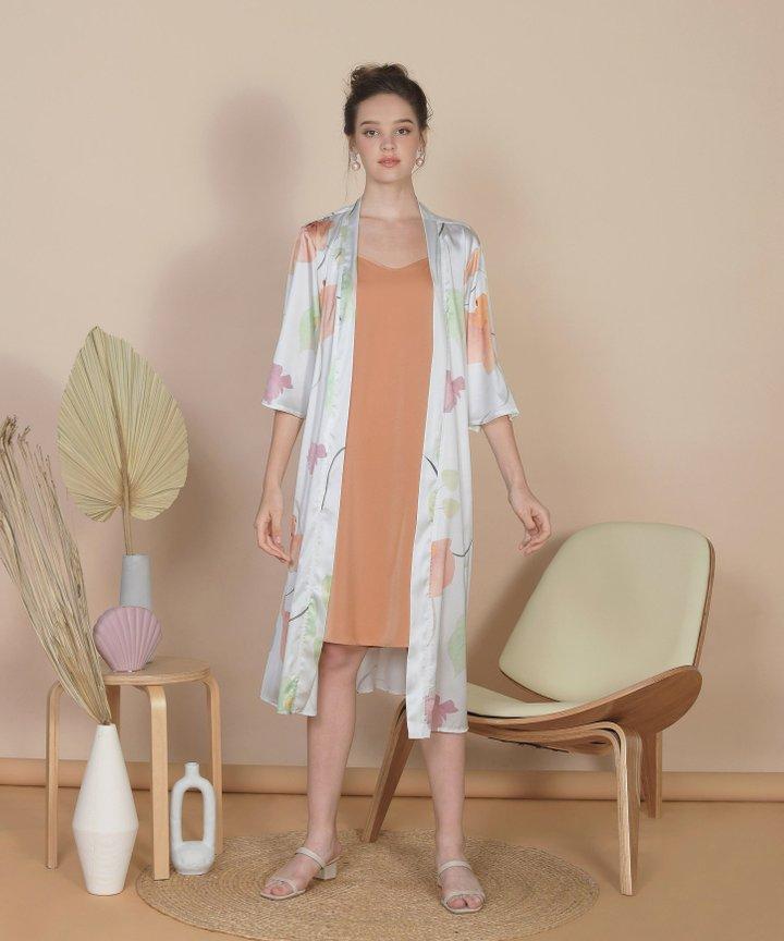 Bellflower Longline Kimono - White (Restock)