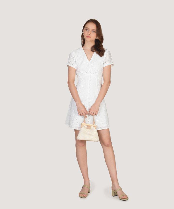 Coralline Eyelet Dress - White