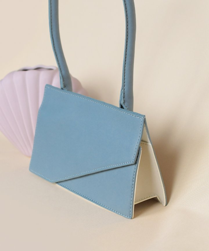 Genoa Rectangular Bag - Mist Blue