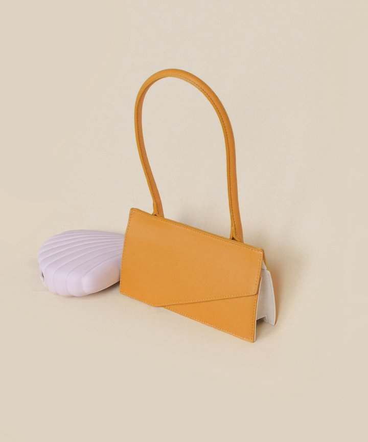Genoa Rectangular Bag - Mustard