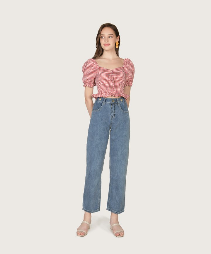 Hallan Cropped Jeans
