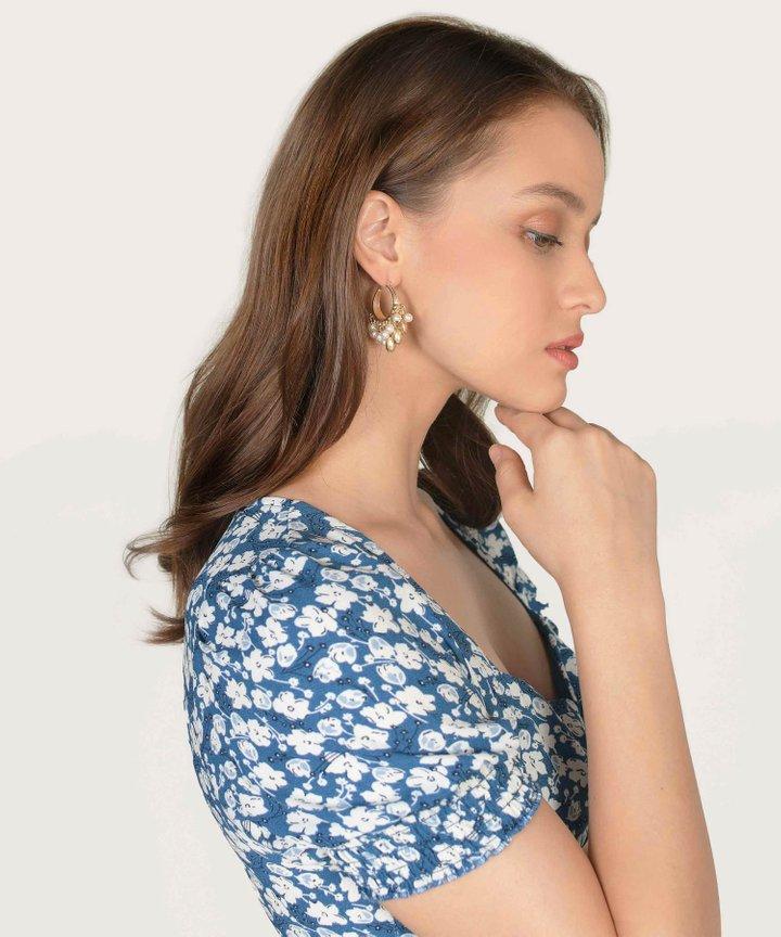 Tamarind Pearl Cluster Earrings