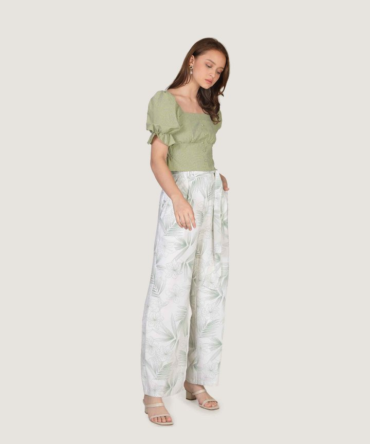 Malibu Wide Leg Pants - Green