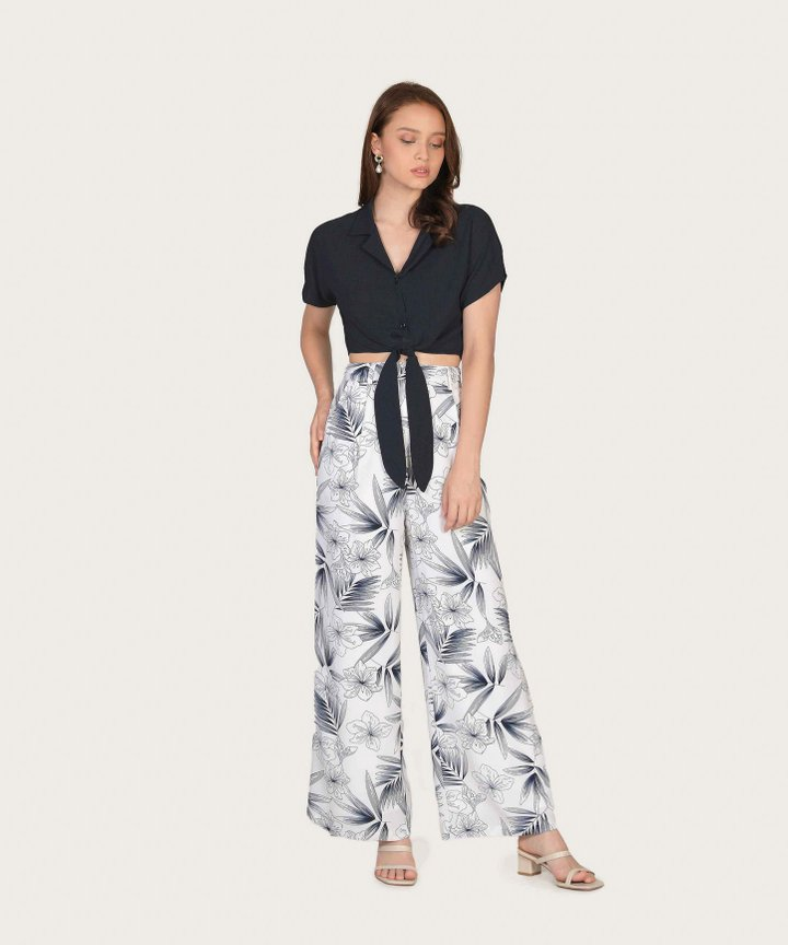 Malibu Wide Leg Pants - Navy