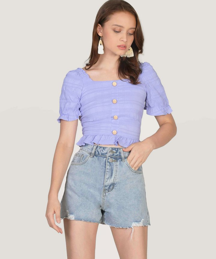 Maurie Textured Top - Lavender