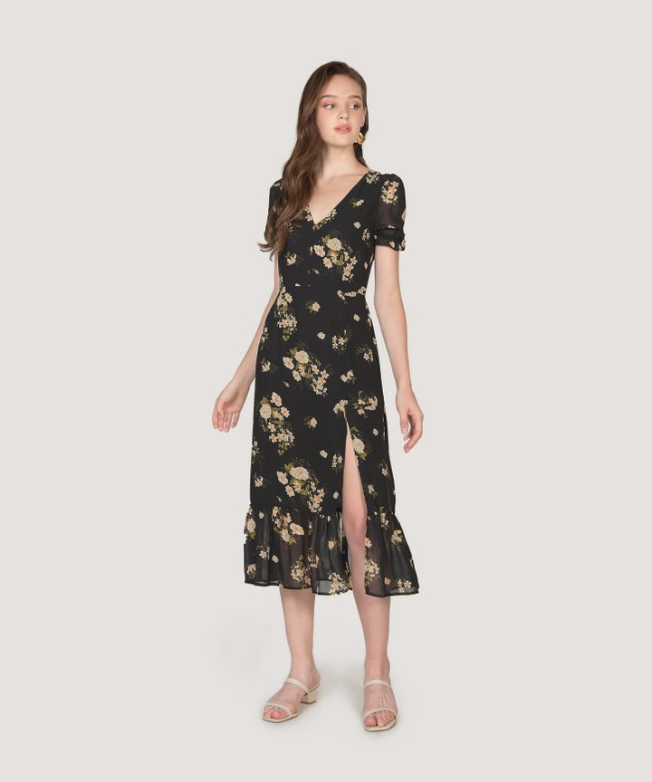 Palmona Floral Midi Dress (Backorder)