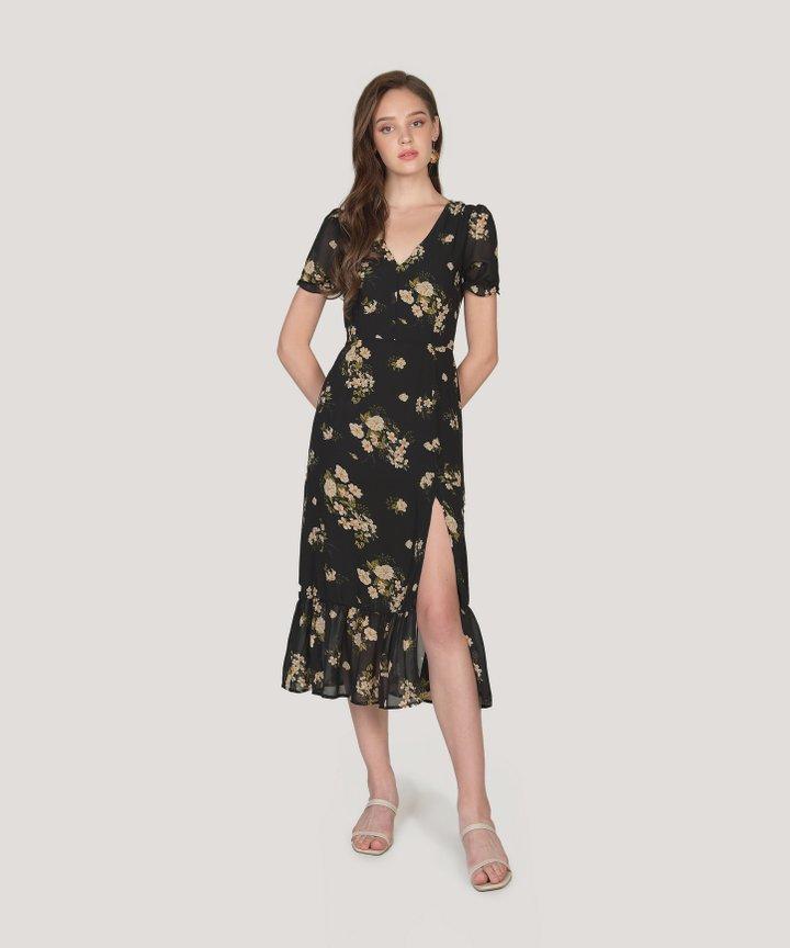 Palmona Floral Midi Dress (Backorder)