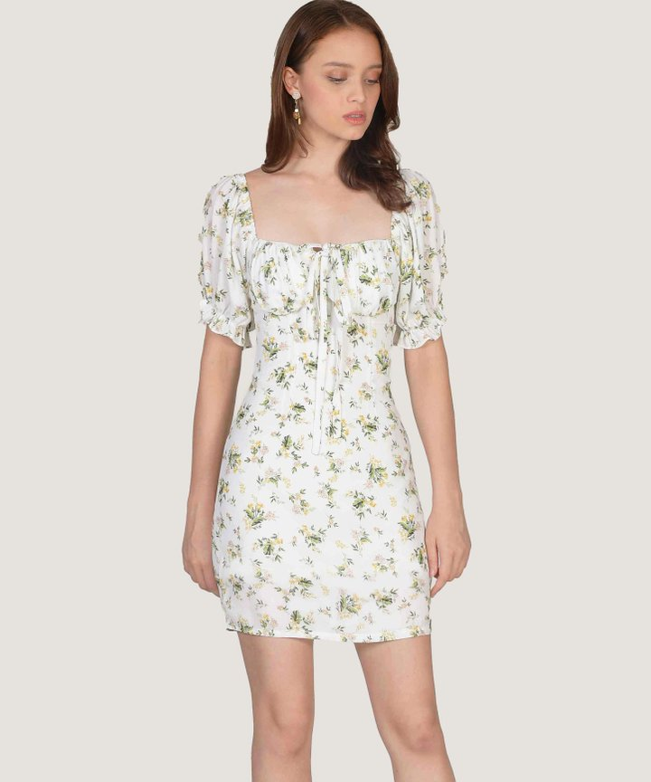 Paulette Floral Mini Dress - Size S, L (Backorder)