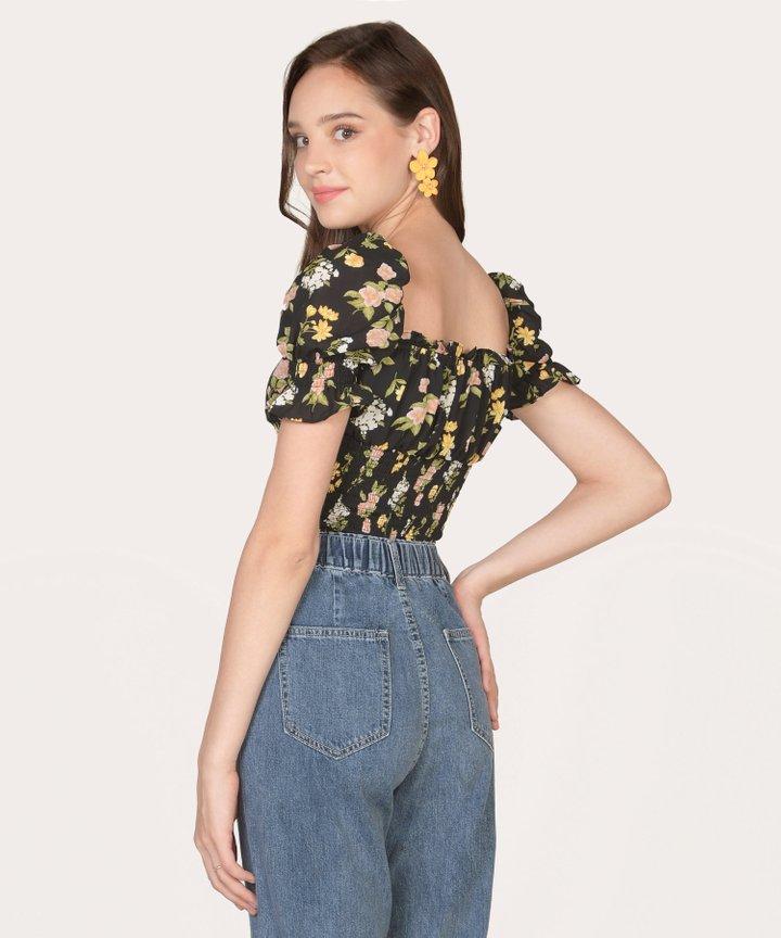 Hialeah Floral Tiered Earrings - Marigold (Backorder)