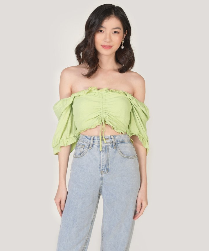 Peninsula Cropped Top - Lily Green
