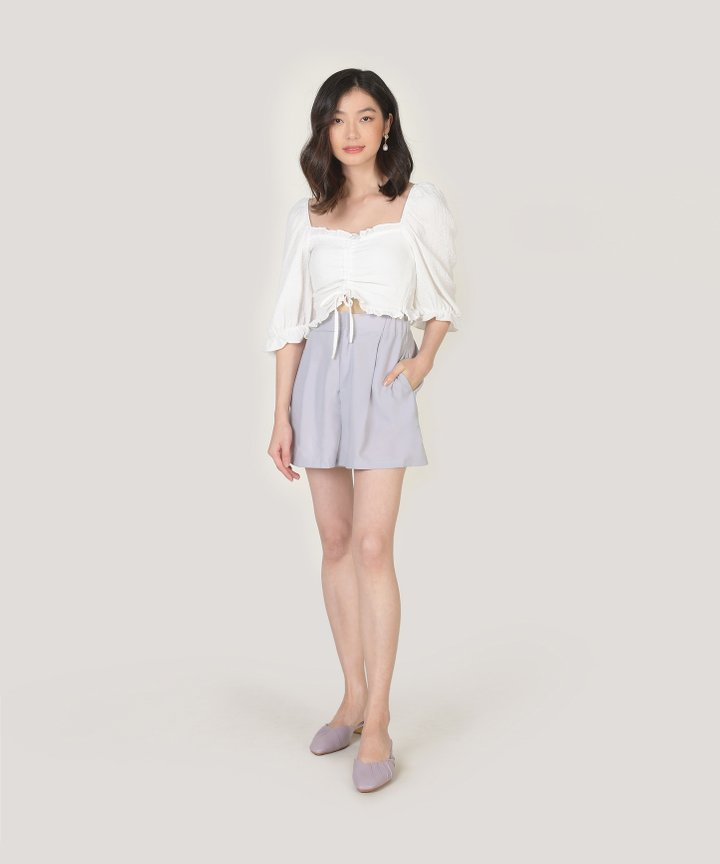 Peninsula Cropped Top - White (Backorder)