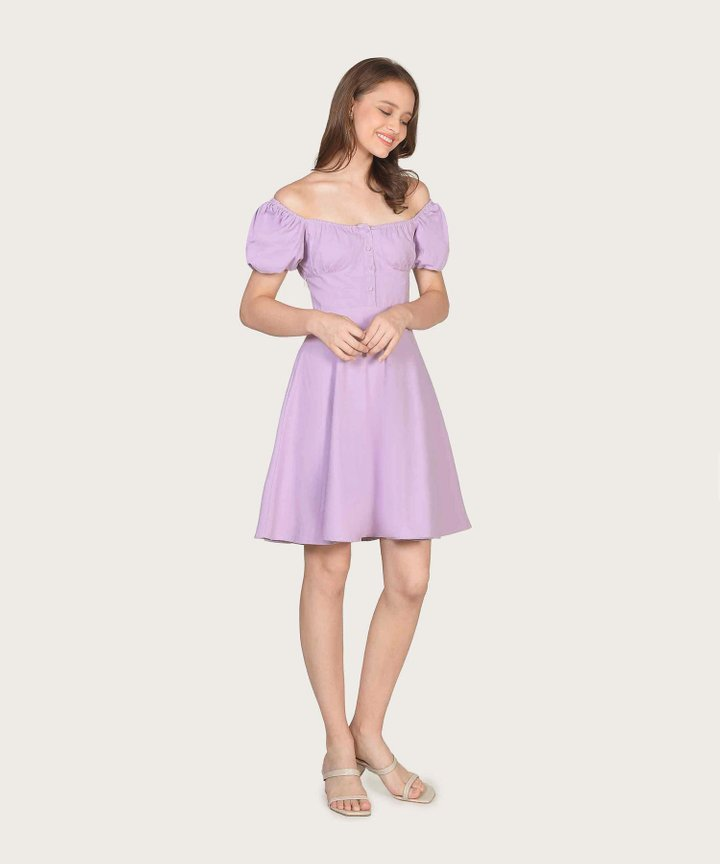 Charlize Pouf Sleeve Dress