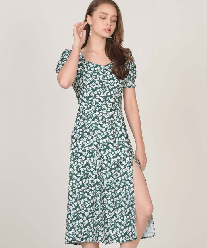 Clarette Floral Midi Dress (Backorder)