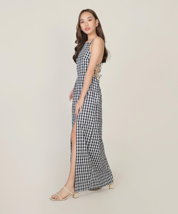 Kismet Gingham Maxi Dress