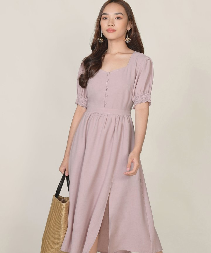 Lafayette Midi Dress - Dust Lavender
