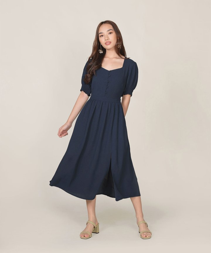 Lafayette Midi Dress - Midnight Blue