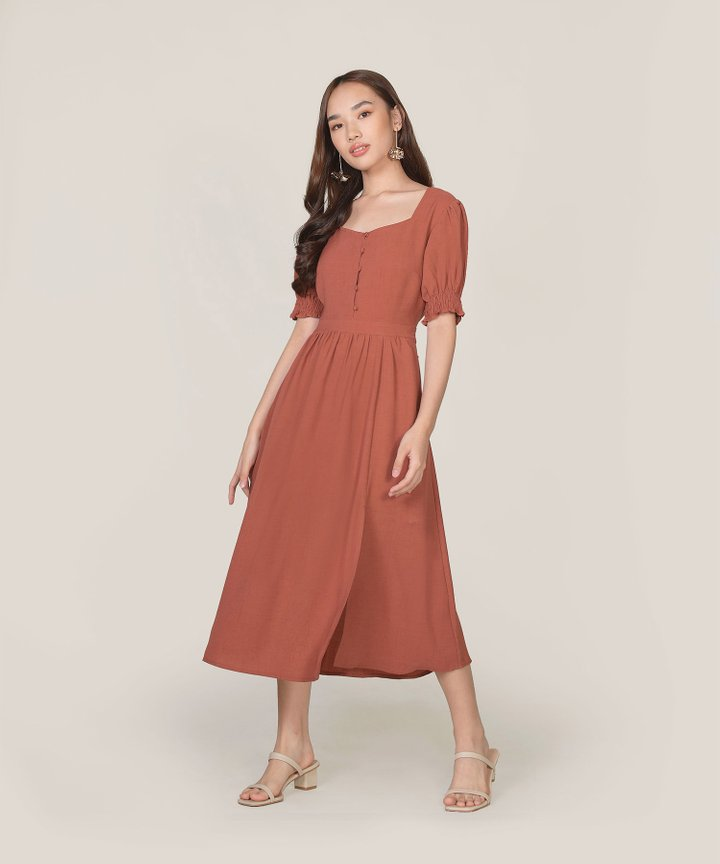 Lafayette Midi Dress - Redwood