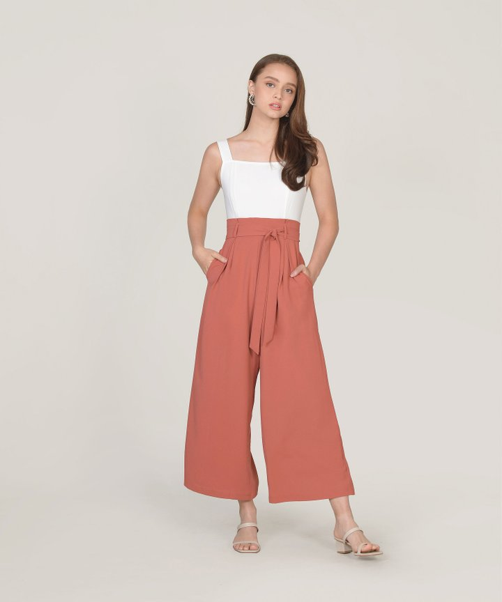 Pavillon Jumpsuit - Coral Red