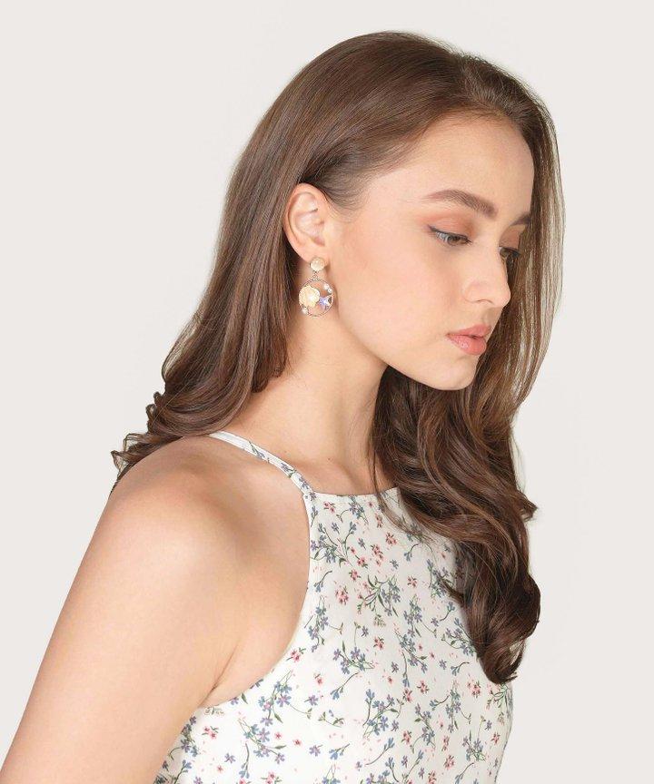 Aerie Seashell Earrings - Lavender