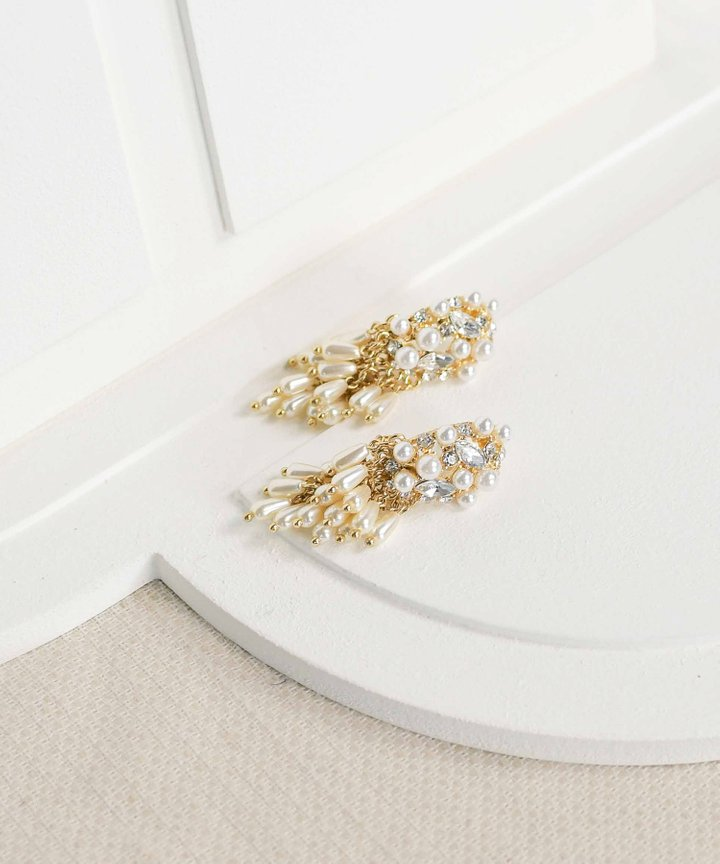 Romi Pearl Cluster Earrings