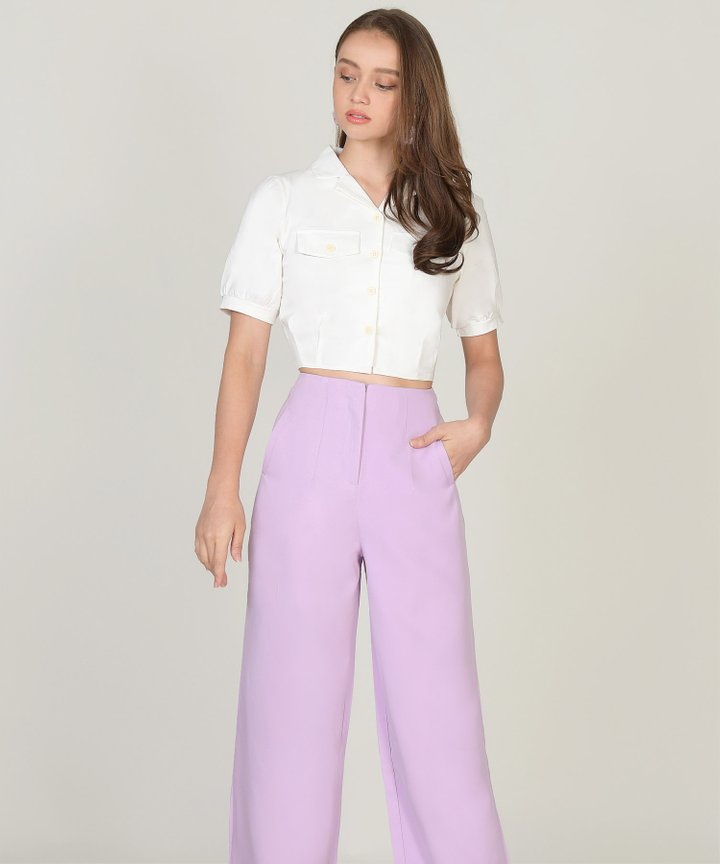 Salut Cropped Blouse - White