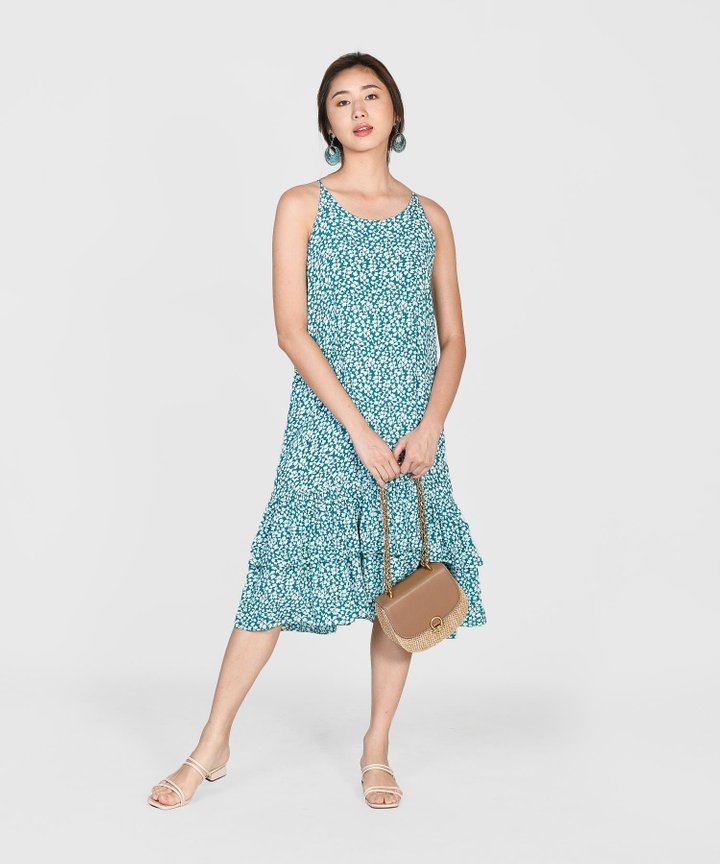 Silvia Printed Tiered Midi Dress