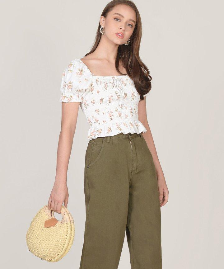 Solange Floral Smocked Top