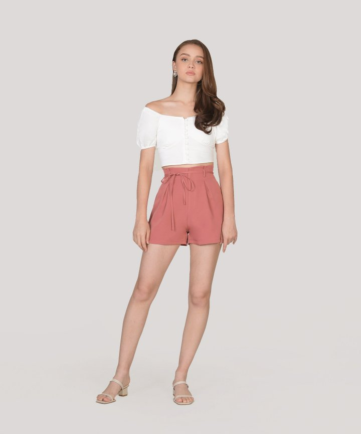 Sonnet Cropped Top - White