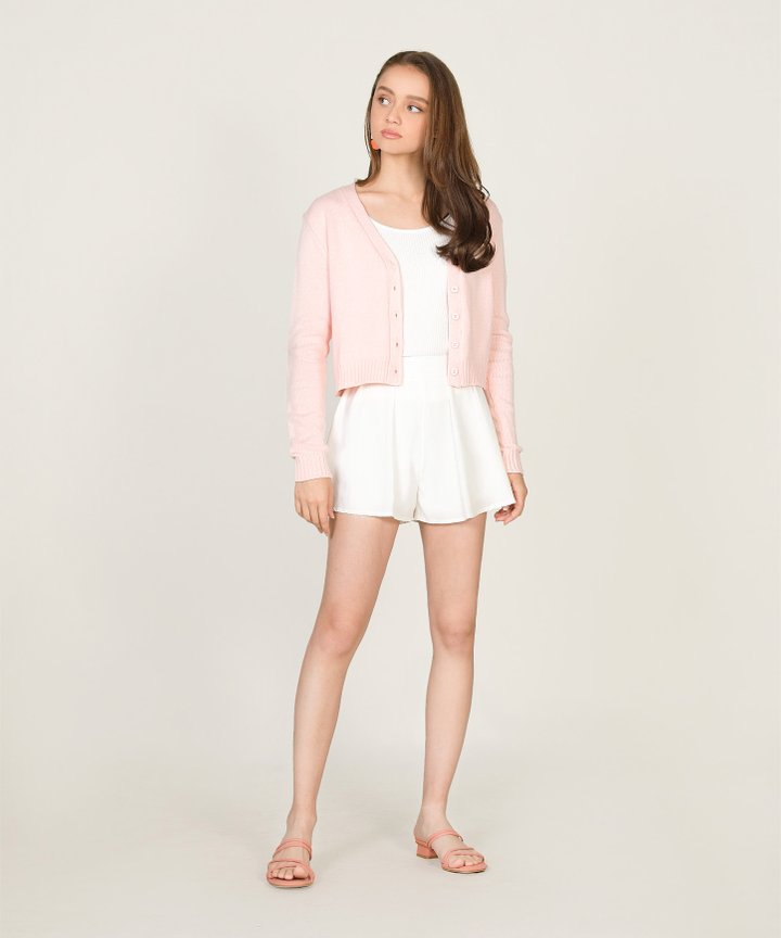 Tsubi Cropped Cardigan - Blush Pink (Backorder)