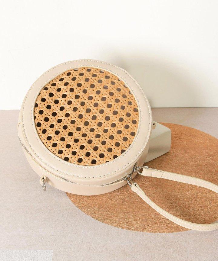 Armandine Woven Circular Bag (Backorder)