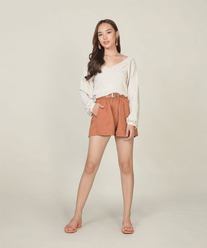 Brandis Belted Shorts - Terracotta