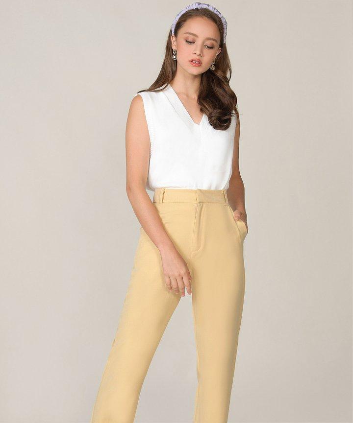 Emeraude Knit Vest - White