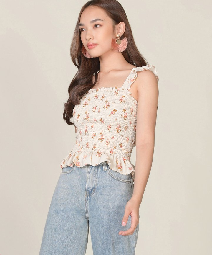 Goldie Floral Smocked Top