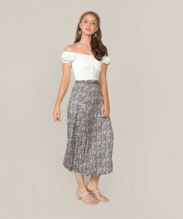 Mariette Floral Pleated Skirt