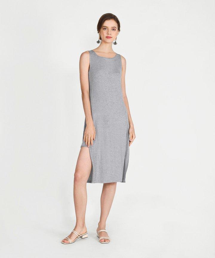 Midas Midi Dress - Heather Grey