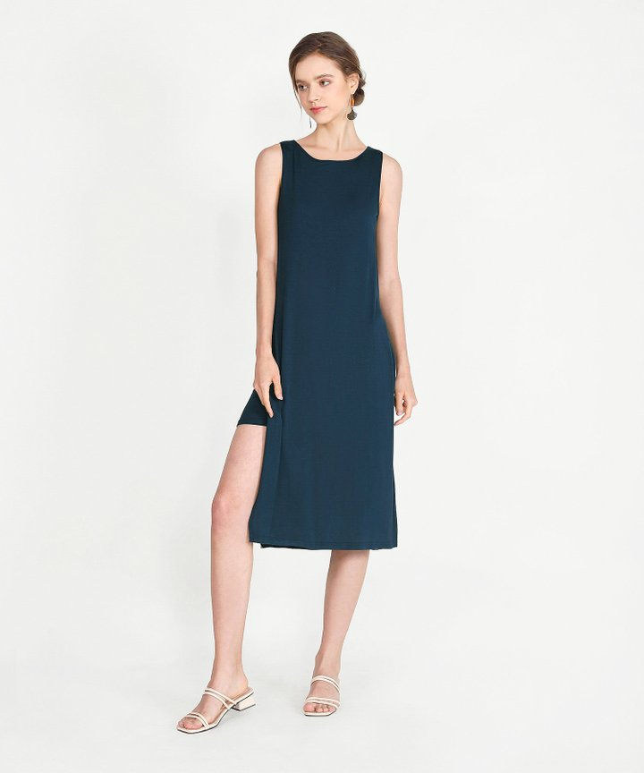 Midas Midi Dress - Navy