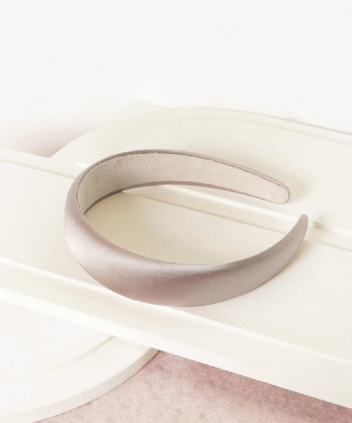 Mirelle Satin Hairband - Lilac Grey (Restock)