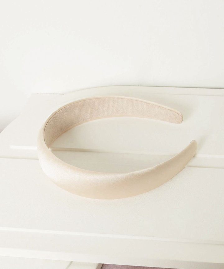 Mirelle Satin Hairband - Off-White (Backorder)